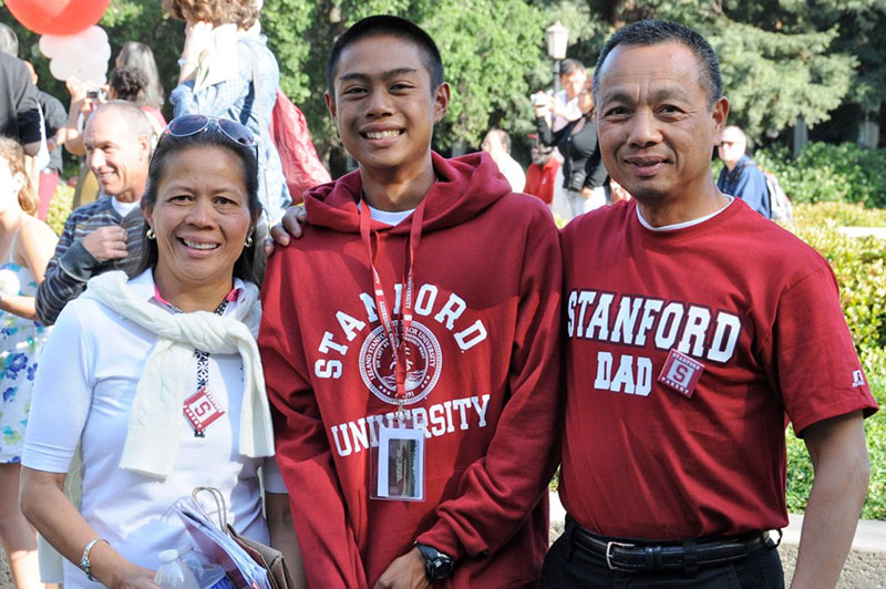 Parents with admitted student